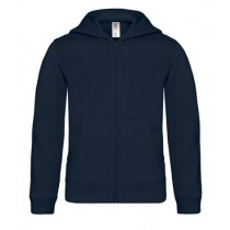 B&C Hooded Full Zip kids Navy