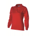 Dames polosweater Rood