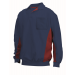 Polosweater Navy/Rood